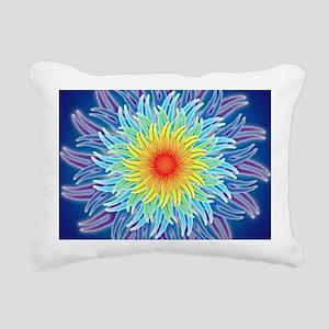 LaptopSkinsFlower7Chakra Rectangular Canvas Pillow