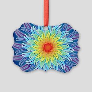 LaptopSkinsFlower7Chakras1 Picture Ornament