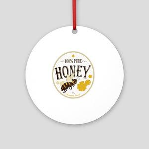 honey label 3 Round Ornament