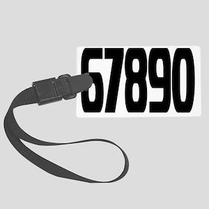 racing-numbers6-0 Large Luggage Tag