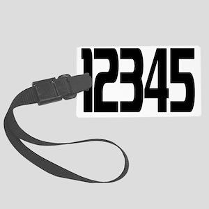 racing-numbers1-5 Large Luggage Tag
