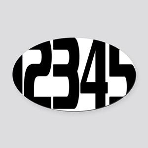 racing-numbers1-5 Oval Car Magnet