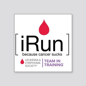 "irun Square Sticker 3"" x 3"""