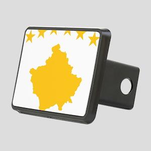 Kosovo Flag Yellow Rectangular Hitch Cover