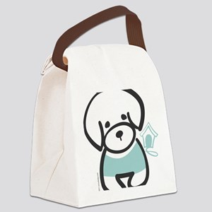bichon Canvas Lunch Bag