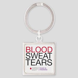 blood.sweat Square Keychain