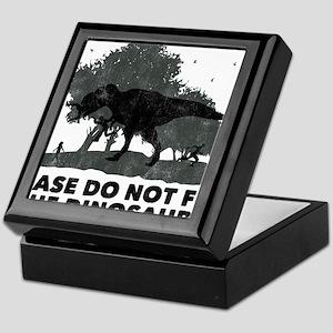 pleasedonotfeedthedinosaurs02 Keepsake Box
