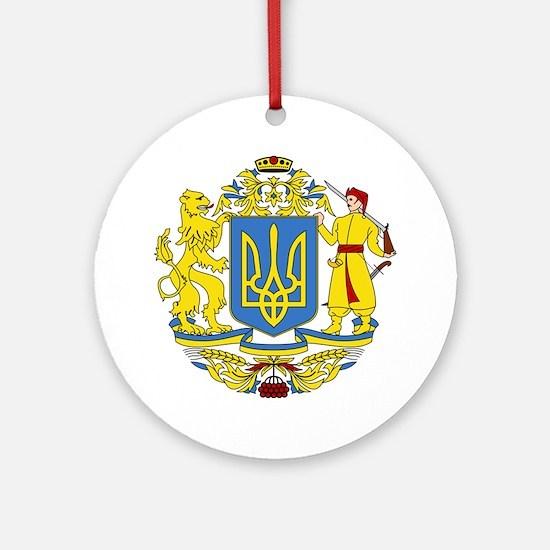 escudo_nacional_de_ucrania_6x6 Round Ornament