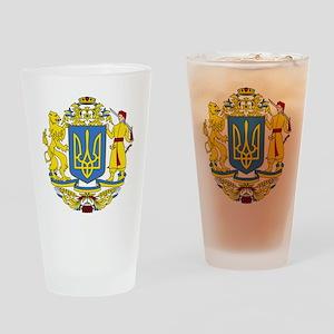 escudo_nacional_de_ucrania_6x6 Drinking Glass