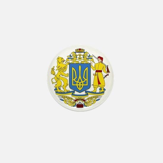 escudo_nacional_de_ucrania_6x6 Mini Button