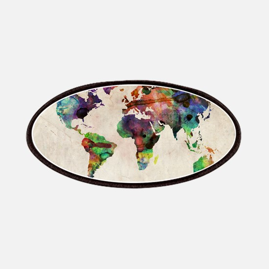 World Map Urban Watercolor 14x10.jpg Patch