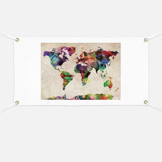 World Map Urban Watercolor 14x10.jpg Banner