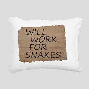 willworkforsnakes Rectangular Canvas Pillow