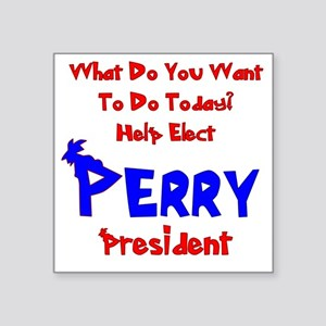 "perry-prez-light Square Sticker 3"" x 3"""