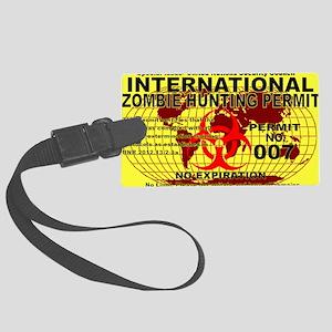 InternationalZOMBIE5x3rect_stick Large Luggage Tag