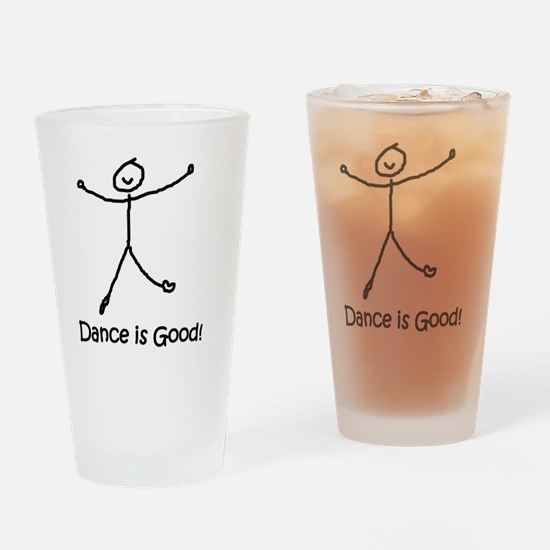 dance is good large copy copy Drinking Glass