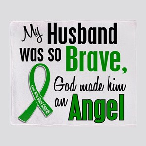 Angel 1 Husband Bile Duct Cancer Throw Blanket
