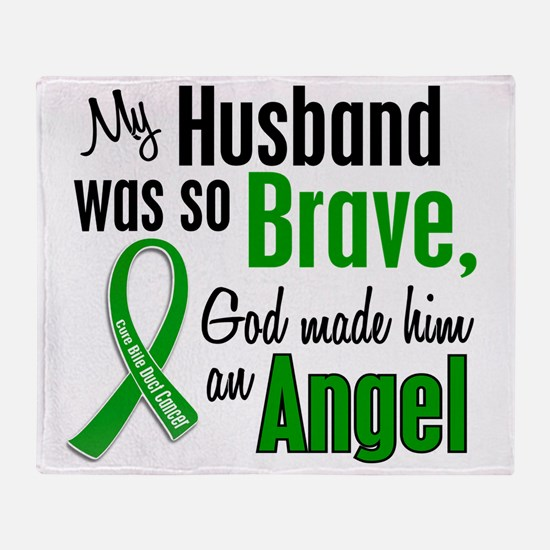 Angel 1 Husband Bile Duct Cancer Throw Blanket