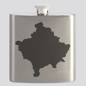 Kosovo Map Black Flask
