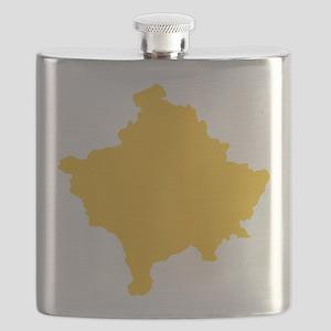 Kosovo Map Yellow Flask