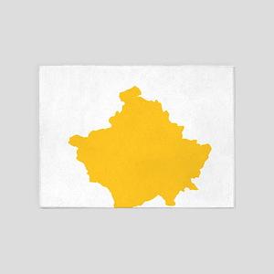 Kosovo Flag 5'x7'Area Rug