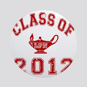 CO2012 LPN Red Distressed Round Ornament