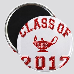 CO2012 LPN Red Distressed Magnet