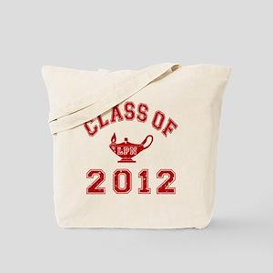 CO2012 LPN Red Distressed Tote Bag