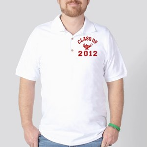 CO2012 LPN Red Distressed Golf Shirt
