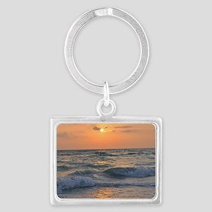 Siesta Key Sunset1 Landscape Keychain
