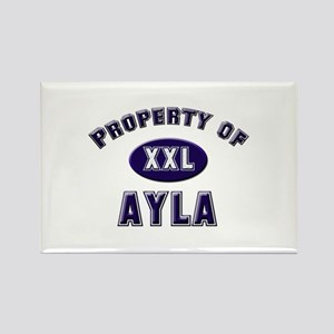 Property of ayla Rectangle Magnet