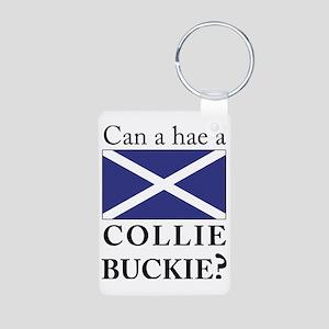 Collie Buckie with Saltire Aluminum Photo Keychain