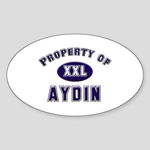 Property of aydin Oval Sticker