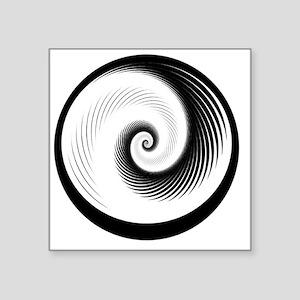 "spiral.hurricane Square Sticker 3"" x 3"""