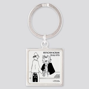 4256_beethoven_cartoon Square Keychain