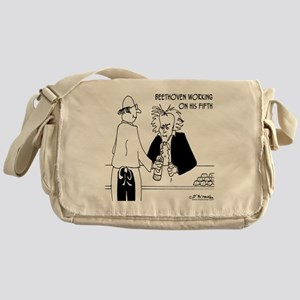 4256_beethoven_cartoon Messenger Bag