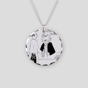 4256_beethoven_cartoon Necklace Circle Charm