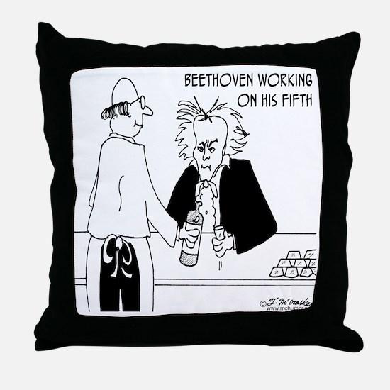 4256_beethoven_cartoon Throw Pillow