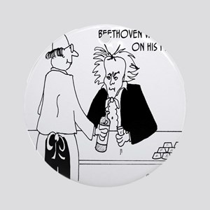 4256_beethoven_cartoon Round Ornament