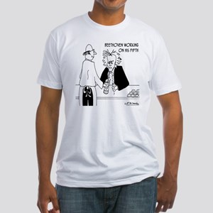 4256_beethoven_cartoon Fitted T-Shirt