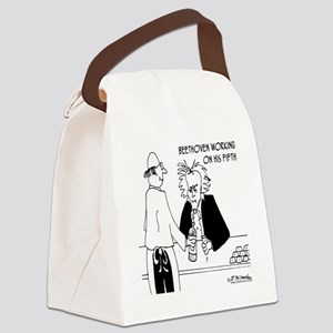 4256_beethoven_cartoon Canvas Lunch Bag