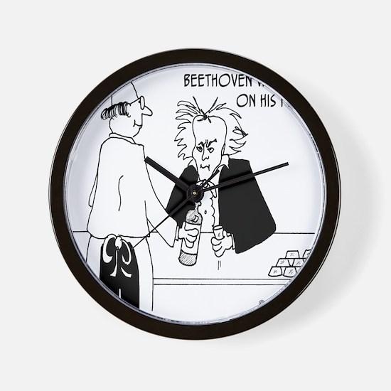 4256_beethoven_cartoon Wall Clock