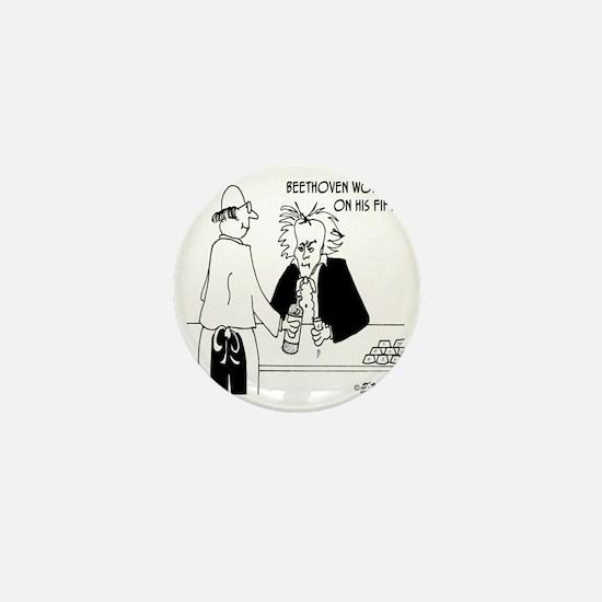 4256_beethoven_cartoon Mini Button