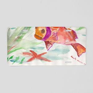 Fish Aluminum License Plate