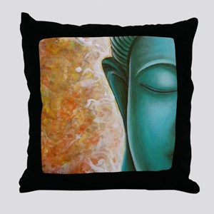 Aqua Buddha Throw Pillow