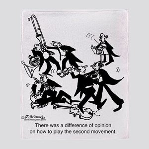 4229_musician_cartoon Throw Blanket