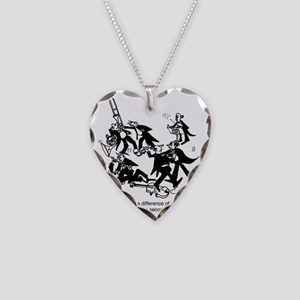 4229_musician_cartoon Necklace Heart Charm