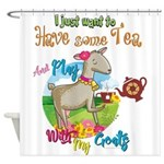 GOAT | Just Want to Have Some Tea P Shower Curtain