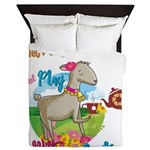 GOAT | Just Want to Have Some Tea Play Queen Duvet