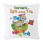 GOAT | Just Want to Have Some Woven Throw Pillow